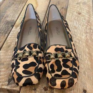 Vaneli Leopard Loafers